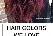 Red-violet hair