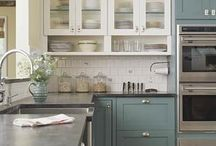 two color kitchen cabinet