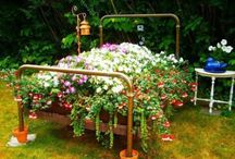 Flower Beds / Recycling In A Fun Way / by Antique Iron Beds by Cathouse Beds