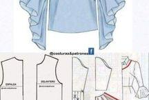 Patrones camisa corta para mara y mangas japonesas