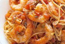 Pasta & Fish, Prawns etc