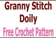 Granny stitch doily