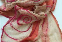 Ckrealis / feltro, nuno feltro, colorazione naturale, ecoprint