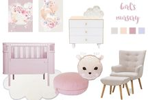 Boo & bear Mood board: A pretty girls nursery design featuring our Rosie the Deer cushion  Tap pic for details  https://www.instagram.com/p/BIBPFydByo6/ / by Boo & Bear