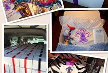 Real Weddings: Welcome Gifts / Gift bags and boxes are a great way to welcome your out of town wedding and event guests and thank them for traveling a long way to be a part of your special day.  Check out these creative and fun gift boxes for real All About Events clients! Need welcome gifts for your event? Visit www.allaboutevents.net