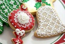 Ideias Para Natal / Decorações de bolos, cupcakes e cookies para natal