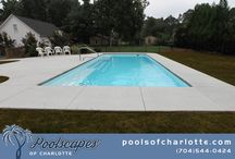 Poolscapes of Charlotte pool builds / Some recent fiberglass pool installations