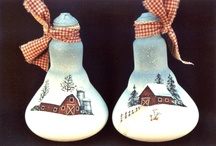 Christmas painted lightbulbs / by Jackie Parker