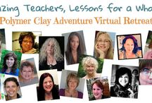 Polymer Clay Adventure / Polymer Clay Adventure, Virtual Polymer Clay Retreat. Hosted by Ilysa & Kira of PolymerClayTV. I am one of 22 fabulous teachers. Join us for a year long project! http://bit.ly/PCAKatersAcres / by KatersAcres