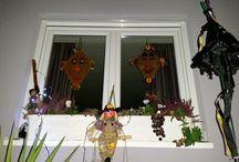Herbst / Fenster dekorieren