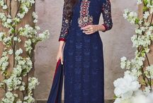 Women Salwar Kameez / The salwar suit is available in many various types of varieties. The design, cut, color, fabric, embroidery and embellishment vogue might vary reckoning on the required aesthetic impact.  Today Women will find an amazing range of salwar suits online.