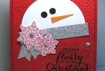 lumiukko joulukortti