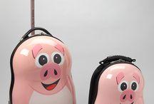 Piggy Luggage + Tag
