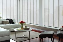 Vertical Blinds by Hunter Douglas / Cadance, Skyline, Alustra Skyline and Somner Vertical blinds all offer coverage for large windows and sliding doors.
