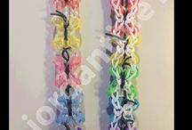 Butterfly loom bands don't fly away.