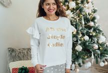 "Christmas Holiday Sweaters / This adorable "" All The Jingle Ladies"" sweater with ruffled details on the shoulder is my ultimate favorite sweater for Christmas. I had to find the best sweater for all of you to gift to someone. If you are  going to attend a Holiday sweater party, this ""All The Jingle Ladies"" festive sweater will perfect for the Holidays . Read: http://www.uptownfashionbyjess.com/"