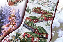 Patrones de punto de cruzmoldez dd botas navidad