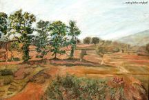 Oil Painting / Oil painting is the method of painting with pigments that are doomed with a medium of drying oil.