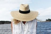 Summer hats we love / When you live and work on a coastal, hot summer season area - hrs are essential to protecting your head and face from the sun. Here are some of our favorites and fashionable too!