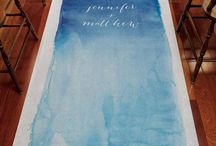 Run Down the Aisle in Style! / Aisle Runners and other items meant for your ceremony