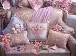 Вышивание -декор подушка