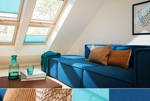 Farger og struktur / Bruk farger på gardiner og tekstiler i rommet for en leken og morsom atmosfære.