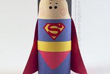 super man carton