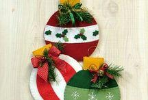 adornos navideños con cd