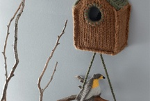 crochet bird houses
