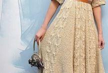 платье - спицами