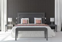 Mobilier de chambres POITOUX / Gammes mobilier de chambres sur mesure : Tête de lit, chevet, bureau, armoire, porte-bagage, miroir...