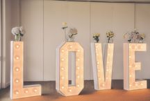 Letras luminosas / Letras luminosas para bodas