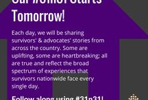 #31n31 October 2015 / Each day during the month of October (Domestic Violence Awareness Month), we will be sharing survivors' & advocates' stories from across the country. Some are uplifting, some are heartbreaking; all are true and reflect the broad spectrum of experiences that survivors nationwide face every single day. Follow along using #31n31 / by National Network to End Domestic Violence (NNEDV)