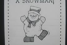 Snowman Speech Therapy Activities