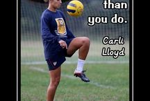 Lloyd and Solo / #10 midfield, USWNT, Golden ball, #1 goalie, USWNT, Golden Glove