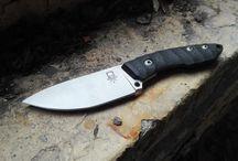 Rusty Skull Blades / knives, handmade, custom