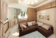 дизайн комнаты с 2мя зонами