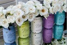 D I Y: ΓΥΑΛΙΝΑ ΒΑΖΑ / Mason jars crafts