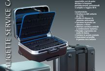 Luxury Line Service Cases  / Luxury service cases guarantee modularity and customisation. The inner part can be removed, depending on the use: document holder, tool holder or suitcase.  Characteristics: - shockproof 27/10 ABS structure - anticorodal aluminium closing profile - built-in key locks - additional central lock with number combination - ergonomic handle with release spring - chromium-plated steel hinges - shockproof black rubber seals