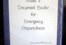 PREPPING: Emergency binders / Create a grab-n-go binder filled with your vital documents. www.TheSurvivalMom.com