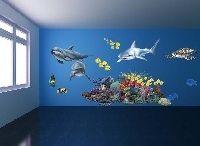 Samolepky Moře - Mořský svět / Velkoformátové samolepky Moře - Mořský svět. Samolepící obrázky lze použít samostatně nebo jejich vzájemnou kombinací je možné vytvářet obří originální nástěnnné obrazy.