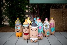 Outdoor - Recycled/Repurposed/Revamped Projects / Everyday common small recycling idea for outdoor