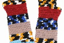 Fingerless Rainbow Gloves / Colorful array of fingerless mitts, wristwarmers, and armwarmers
