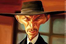 """Caricature et western / Caricatures d'acteurs (et d'actrices, un peu) dans les films sur le """"far'west"""""""