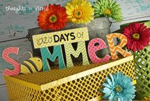 Summer Crafts and Ideas / by Thoughts in Vinyl = Wood Letters and Crafts and Vinyl Lettering