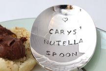 PERSONALISED SILVER PLATED SPOONS! / Vintage silver plated spoons, each one hand stamped with your message!