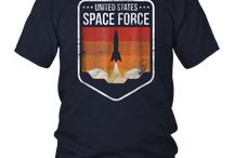 Space Force T-shirt Retro Design Distressed