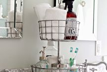 Bath Organization / Towels and toiletries: where does it all go? Tips for a beautiful, organized bathroom.