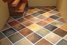 Concrete floor ideas.