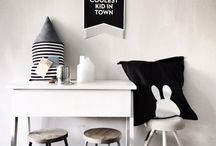 Black & White Baby / Graphic, bold, modern black and white nursery and baby.